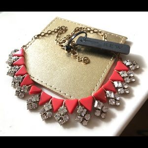 🔥NWT JCrew HotRed Crystals Statement Necklace🔥
